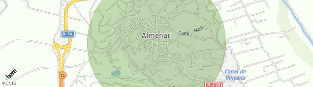 Mapa Almenar