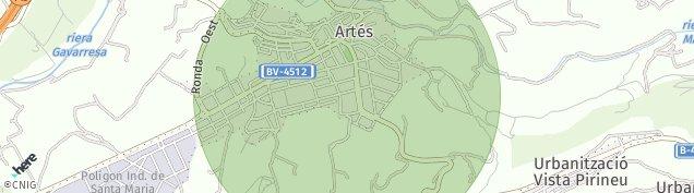 Mapa Artés