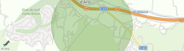 Mapa Santa Cristina d'Aro