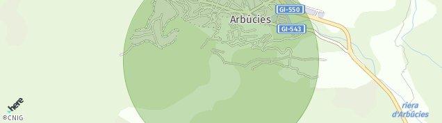 Mapa Arbúcies
