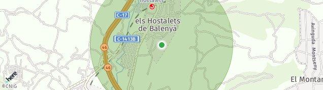 Mapa Els Hostalets de Balenyà
