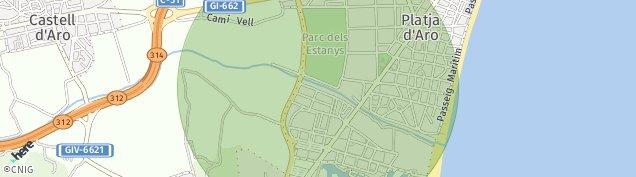 Mapa Platja d'Aro