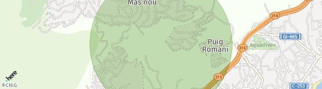 Mapa Castell-Platja d'Aro