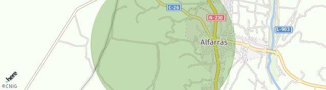 Mapa Alfarras