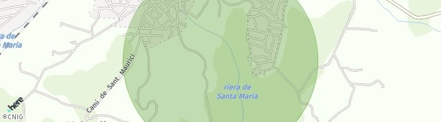 Mapa Caldes de Malavella
