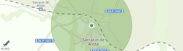 Mapa Sarracin de Aliste