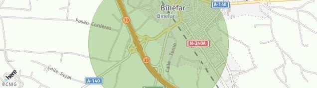 Mapa Binéfar