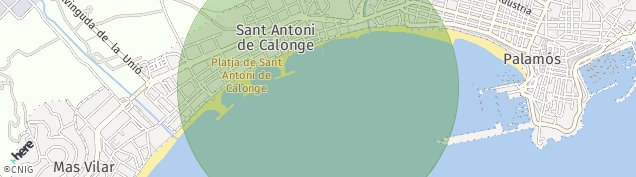 Mapa Sant Antoni de Calonge