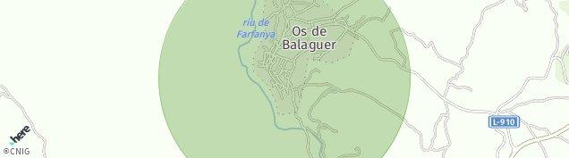 Mapa Os de Balaguer