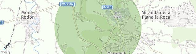 Mapa Taradell