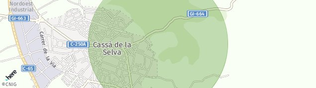 Mapa Cassa de La Selva