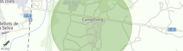 Mapa Campllong