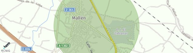 Mapa Mallén