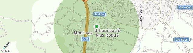 Mapa Mont-Ras