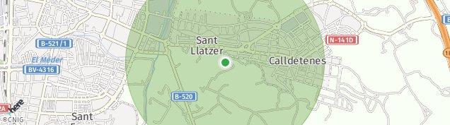 Mapa Calldetenes