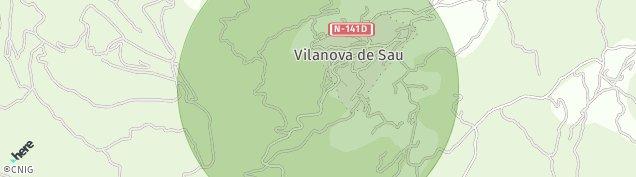 Mapa Vilanova de Sau