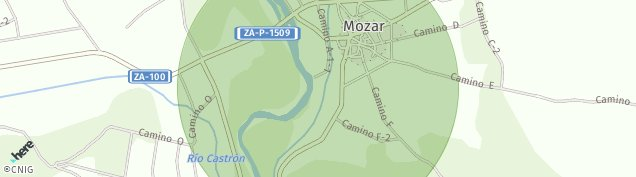 Mapa Mozar de Valverde