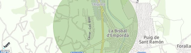 Mapa La Bisbal d'emporda