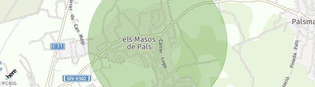 Mapa Els Masos de Pals