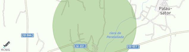 Mapa Peratallada