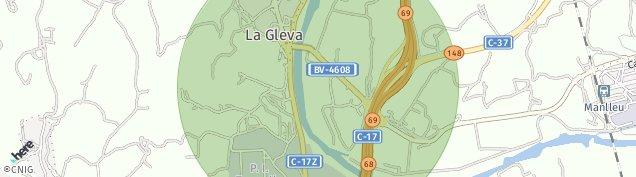 Mapa La Gleva