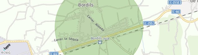 Mapa Bordils