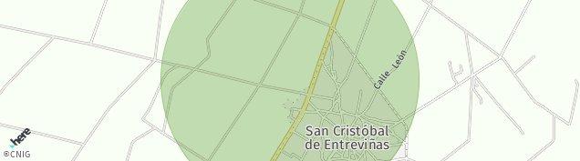 Mapa San Cristóbal de Entreviñas