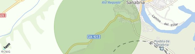 Mapa Puebla de Sanabria