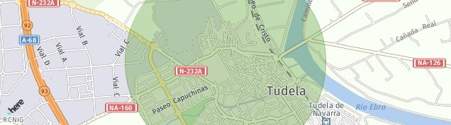 Mapa Tudela