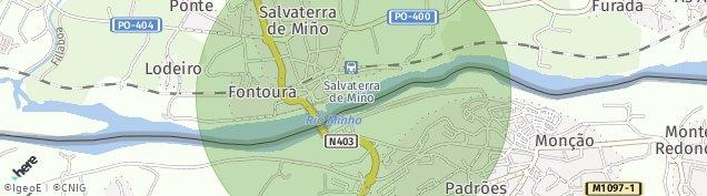 Mapa Salvaterra de Miño
