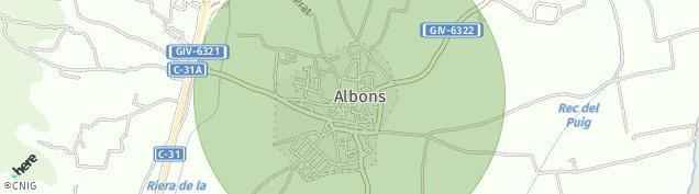 Mapa Albons