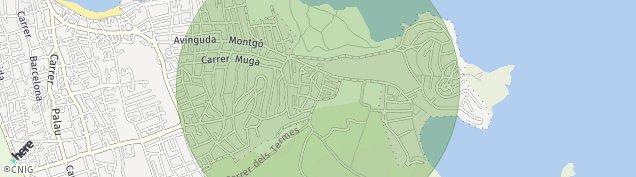 Mapa Cala Montgo