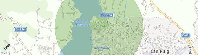Mapa Banyoles