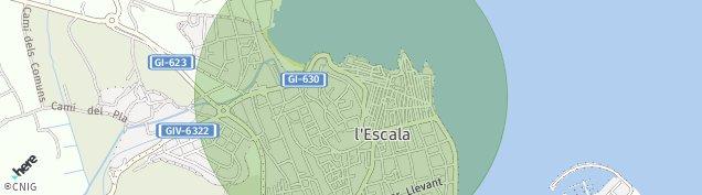 Mapa L'Escala