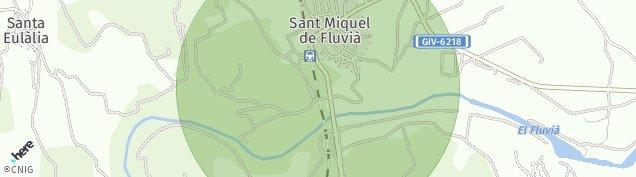 Mapa Sant Miquel de Fluvia