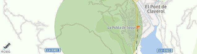 Mapa La Pobla de Segur