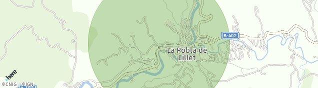 Mapa La Pobla de Lillet