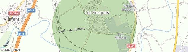 Mapa Santa Llogaia d'Alguema