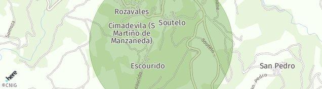 Mapa Manzaneda de Ourense