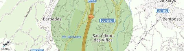 Mapa San Cibrao das Viñas