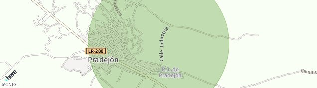 Mapa Pradejón