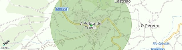Mapa A Pobra de Trives
