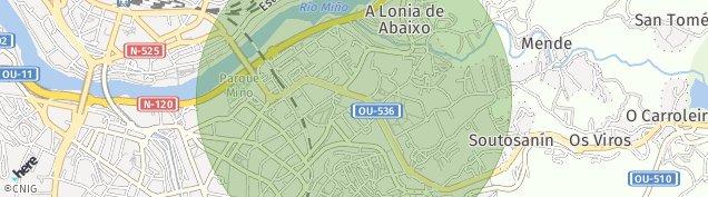 Mapa Ourense