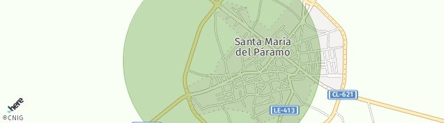 Mapa Santa María del Páramo