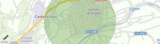 Mapa La Seu d'Urgell