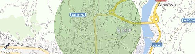 Mapa Os Coiñas