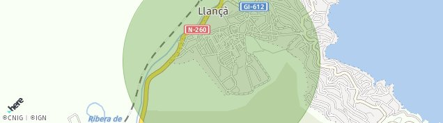 Mapa Llança