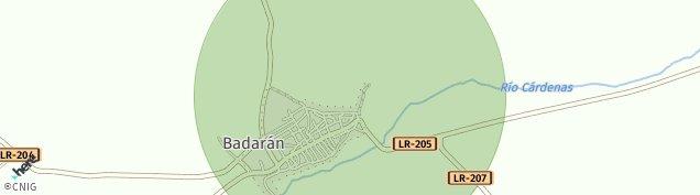 Mapa Badarán
