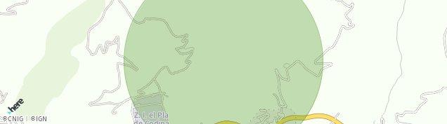 Mapa Bellver de Cerdanya
