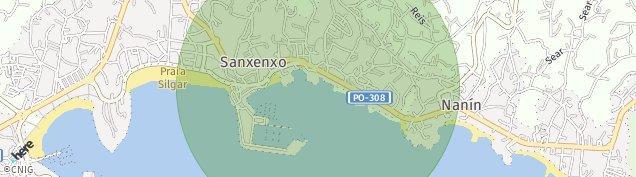 Mapa Sanxenxo